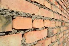 Prospettiva del muro di mattoni Immagini Stock
