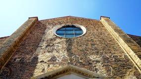 Prospettiva della chiesa antica fotografia stock libera da diritti