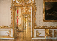 Prospettiva della porta a Tsarskoye Selo Pushkin fotografia stock