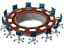 prospettiva della sala del consiglio 3D Fotografie Stock Libere da Diritti
