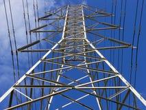 Prospettiva della torretta di elettricità Fotografie Stock Libere da Diritti