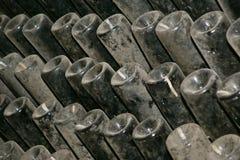 Prospettiva delle bottiglie di vino Fotografia Stock Libera da Diritti