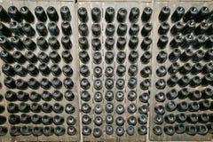 Prospettiva delle bottiglie di vino Fotografie Stock Libere da Diritti