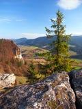 Prospettiva di autunno da Vysnokubinske Skalky Fotografia Stock Libera da Diritti