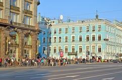 Prospettiva di Nevsky in san-Peterburg, Russia Fotografie Stock