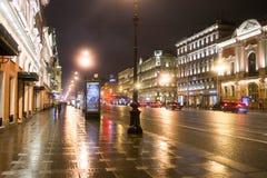 Prospettiva di Nevsky St Petersburg La Russia 2014 immagine stock libera da diritti