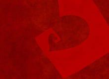 Prospettiva di sparizione di grande cuore rosso strutturato Fotografie Stock Libere da Diritti