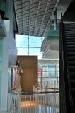 Prospettiva e spazio dell'interiore della costruzione Fotografie Stock Libere da Diritti