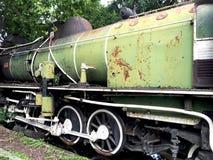 Prospettiva ferroviaria del trasporto del treno d'annata Fotografia Stock