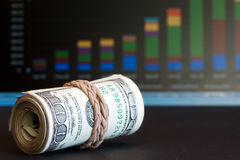 Prospettiva finanziaria Fotografie Stock