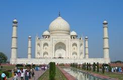 Prospettiva iconica del mausoleo di Taj Mahal Fotografia Stock