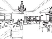 Prospettiva interna del disegno di schizzo del profilo for Programma di disegno della casa libera