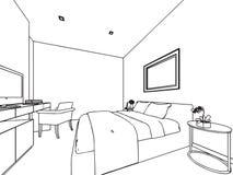 Illustrazione di prospettiva moderna della camera for Programma di disegno della casa libera