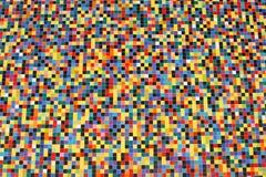 Prospettiva larga delle mattonelle di mosaico variopinte Fotografia Stock