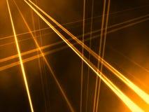 Prospettiva lineare astratta arancione Fotografie Stock Libere da Diritti