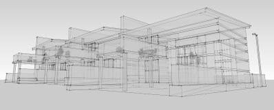 Disegno lineare della pianta della casa della creazione di for Programma di disegno della casa libera