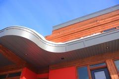 Prospettiva moderna del tetto Fotografie Stock