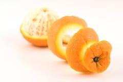 Prospettiva Pealed arancione tre immagini stock libere da diritti