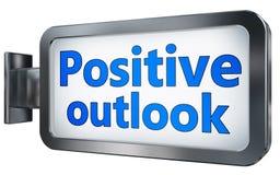 Prospettiva positiva sul tabellone per le affissioni Fotografia Stock Libera da Diritti