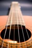Prospettiva spagnola della chitarra fotografie stock libere da diritti