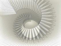 Prospettiva a spirale astratta della struttura con la maglia della cavo-struttura Immagine Stock