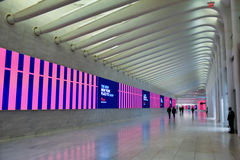 Prospettiva visiva sparata della stazione della metropolitana di WTC Fotografie Stock