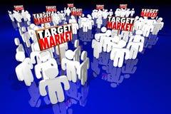 Prospettive dei clienti dei clienti della gente del mercato di obiettivo illustrazione di stock