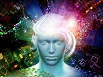 Prospettive dei pensieri di Digital Immagini Stock