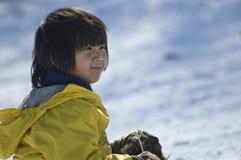 Prospetto dello Snowy Fotografie Stock