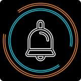 Prosta Bell Cienka Kreskowa Wektorowa ikona royalty ilustracja