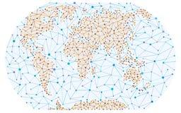 Prosta cząsteczkowa mapa Fotografia Stock