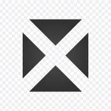 Prosta editable przecinająca ikona z trójboków, wektorowa ilustracja odizolowywająca na przejrzystym tle royalty ilustracja