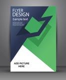 Prosta geometryczna ulotka dla twój reklamy i biznesu Obrazy Stock
