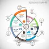Prosta Infographic wektorowa ilustracja, Biznesowy tło Obraz Royalty Free