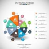 Prosta Infographic wektorowa ilustracja, Biznesowy tło Fotografia Stock
