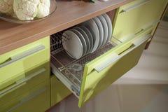Prosta kuchenna meblarska makro- fotografia Zdjęcie Stock