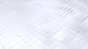 Prosta niska poli- 3D falista powierzchnia jako technologii tło Miękki geometryczny niski poli- tło czystego bielu popielaci wiel ilustracja wektor