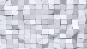 Prosta niska poli- 3D powierzchnia jak surrealistycznego krajobraz Miękki geometryczny niski poli- tło czystego bielu popielaci w royalty ilustracja