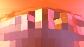 Prosta niska poli- 3D powierzchnia jako żywy środowisko Miękki geometryczny niski poli- ruchu tło przesuwać czystej różowej pomar ilustracja wektor