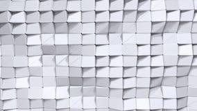 Prosta niska poli- 3D powierzchnia jako elementu ruchu grafika Miękki geometryczny niski poli- tło czystego bielu popielaci wielo ilustracja wektor