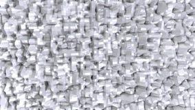 Prosta niska poli- 3D powierzchnia jako fantastyka naukowa krajobraz Miękki geometryczny niski poli- tło czystego bielu popielaci royalty ilustracja