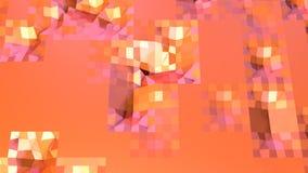 Prosta niska poli- 3D powierzchnia jako krystaliczna komórka Miękki geometryczny niski poli- ruchu tło przesuwać czystą różową po royalty ilustracja