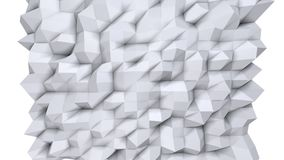 Prosta niska poli- 3D powierzchnia jako krystaliczna komórka Miękki geometryczny niski poli- tło czystego bielu popielaci wielobo royalty ilustracja