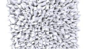Prosta niska poli- 3D powierzchnia jako krystaliczna siatka Miękki geometryczny niski poli- tło czystego bielu popielaci wielobok ilustracji