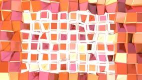 Prosta niska poli- 3D powierzchnia jako luksusowy środowisko Miękki geometryczny niski poli- ruchu tło przesuwać czystej różowej  ilustracji