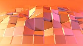 Prosta niska poli- 3D powierzchnia jako matematyki środowisko Miękki geometryczny niski poli- ruchu tło przesuwać czystej różowej zbiory wideo