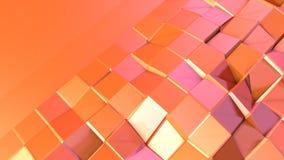 Prosta niska poli- 3D powierzchnia jako mody środowisko Miękki geometryczny niski poli- ruchu tło przesuwać czyste menchie ilustracja wektor