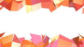 Prosta niska poli- 3D powierzchnia jako popularny środowisko Miękki geometryczny niski poli- ruchu tło przesuwać czyste menchie ilustracja wektor