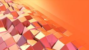 Prosta niska poli- 3D powierzchnia jako przekształcać środowisko Miękki geometryczny niski poli- ruchu tło przesuwać czyste mench royalty ilustracja