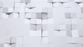 Prosta niska poli- 3D powierzchnia jako wymarzony tło Miękki geometryczny niski poli- tło czystego bielu popielaci wieloboki 4K F ilustracja wektor